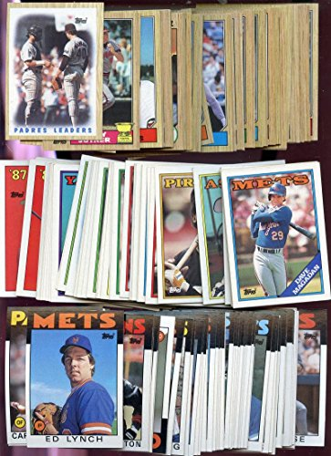 1986 1987 1988 Topps Baseball Card Complete Set Box Collection from Combination