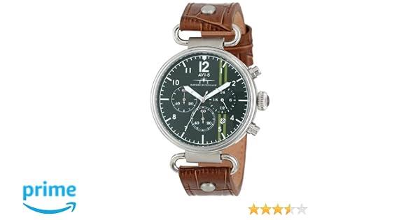 Amazon.com: AVI-8 Mens AV-4014-03 Hawker Hurricane Analog Japanese-Quartz Brown Watch: Watches