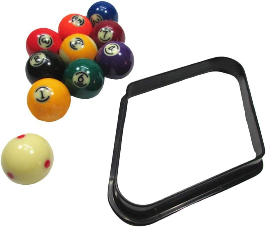 Pool Ball Rack with Reinforced Rounded Edges Plastic triangle for 9 Balls Standard 2-1//4 Billiards Tripod