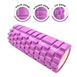 Dr. Health (TM) 13 Inch Deep Tissue Grid Yoga Fitness Massage Foam Roller (Purple)