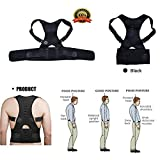 Magnetic Therapy Posture Corrector Brace Shoulder Back Support Belt for Men Women Braces & Supports Belt Shoulder Posture (size L)