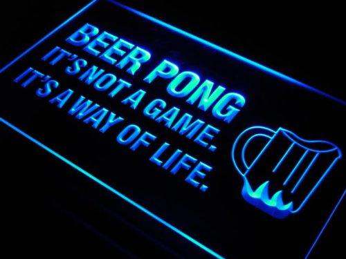 Pong A Way of Life Bar Beer Neon Light Sign ()