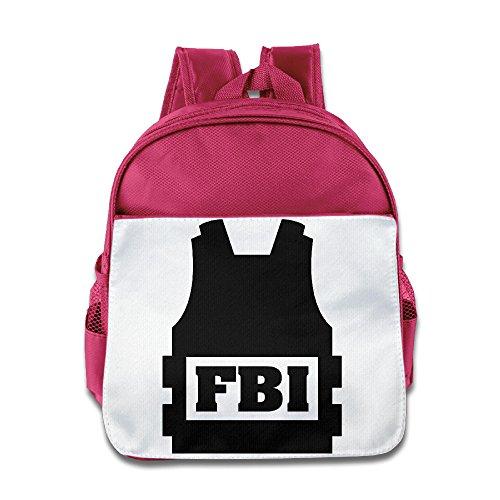 [JXMD Custom Superb FBI Judicial Departments Logo Children School Bag Backpack For 1-6 Years Old] (Wall E Costume Disney)