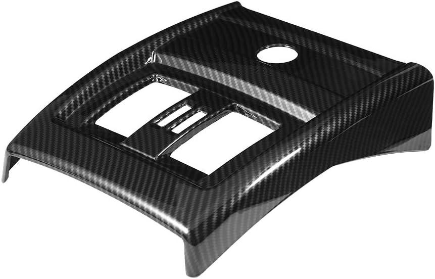 Couvercle de ventilation arri/ère Garniture de couvercle de ventilation arri/ère en plastique avec une excellente apparence et un motif en fibre de carbone pour B-MW S/érie 3 F30 F34 2013-2018