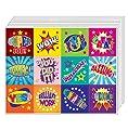 Creanoso Positive Words Motivational Stickers (10-Sheet) – Inspiring Words Wall Decor – Assorted Sticker Decals for Kids, Boys, Girls - Great Stocking Stuffers