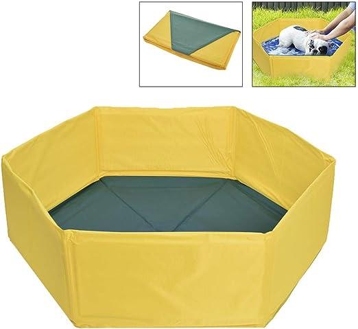 Dog Pool Foldable Pet Kids Bath Pool Swimming Pool Paddling Pool Portable PVC Non-Slip Small Pet Dog Cat Bathing Tub Children Pet Dog Pool for Indoor//Outdoor
