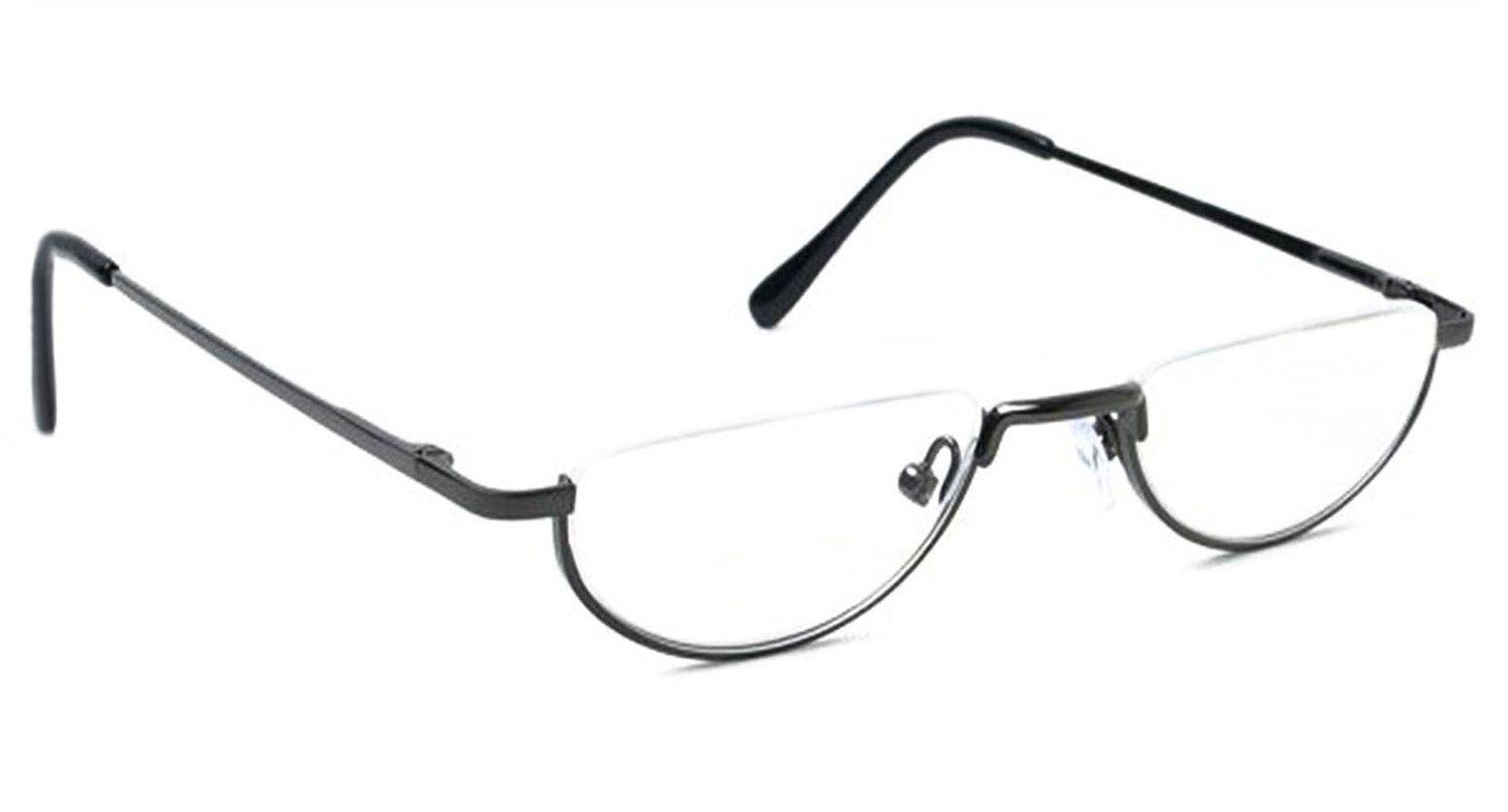 bdcf7a618b Agstum Semi Rimless Half Moon Metal Reading Glasses Spring Hinge (+ ...