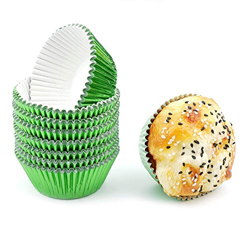 Bakuwe Green Foil Cupcake Liners Standard Muffin Baking Cups, Pack of 200 -