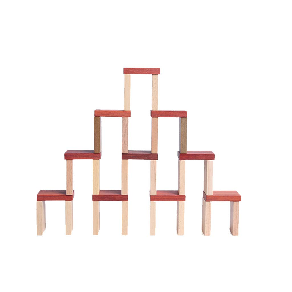 LIUFS-TOY Children's Educational Toys Domino Organs Creative Wood 100 Tablets Adult Intelligence Toy Blocks (Color : A)