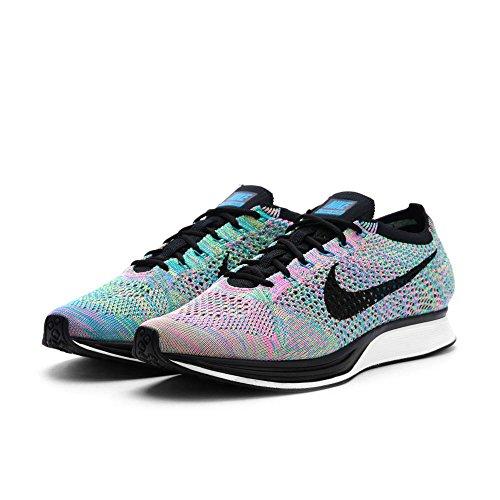 Nike Flyknit Racer Løpe-sko 526628-304_13 - Grønn Streik / Svart Blå Lagune