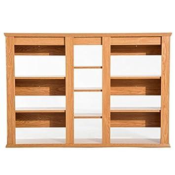 Amazon Com Wooden Wall Mounted Media Storage Shelf 10 Storage