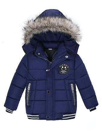 c4c14e1f0e33b ARAUS Blouson Manteau Fourrure Chaud Enfant Garçon Bébé Ski Vêtement  Doudoune à Capuche Veste à Manches Longues Chaud 1-5 Ans
