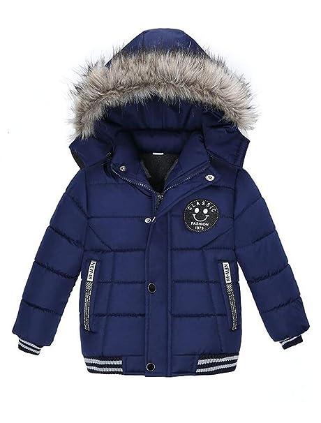 ARAUS Abrigos Bebé Chaqueta de Invierno Acolchada Ropa Abrigo Sudadera con Capucha Abrigo De Algodón Engrosamiento