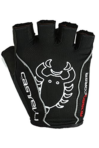Castelli Mens Bike Glove - Castelli Rosso Corsa Classic Glove - Men's Black, M