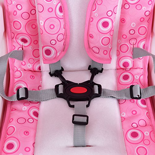 Costzon 3 in 1 Infant High Chair Convertible Play Table Seat Booster with Feeding Tray (Pink) by Costzon (Image #4)