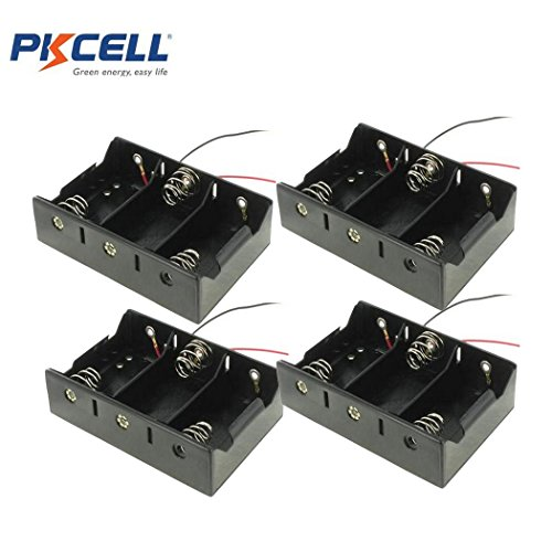 3 Slot D Cell Battery Holder With Two Wires (4)
