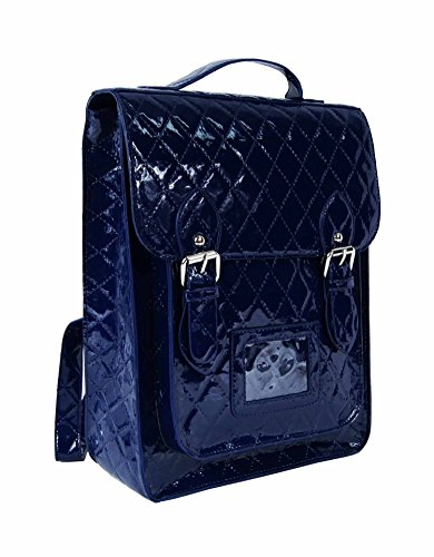 Satchel Ladies Fashion Navy Purple quilted Work Quilted School Girls Designer Backpack Bag New College wqpxFIdF1