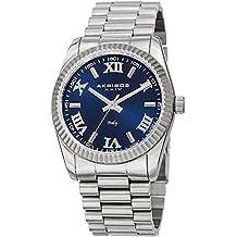 Akribos XXIV Men's AK1034SSBU Italian Desgined Blue & Silver Stainless Steel Bracelet Watch