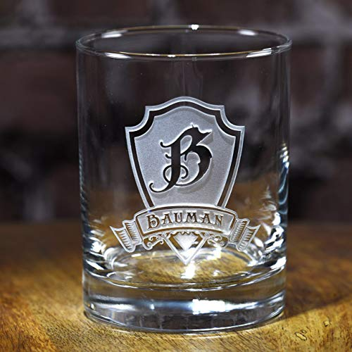 - Engraved Whiskey, Scotch, Bourbon Glasses SET OF 2 (M30)