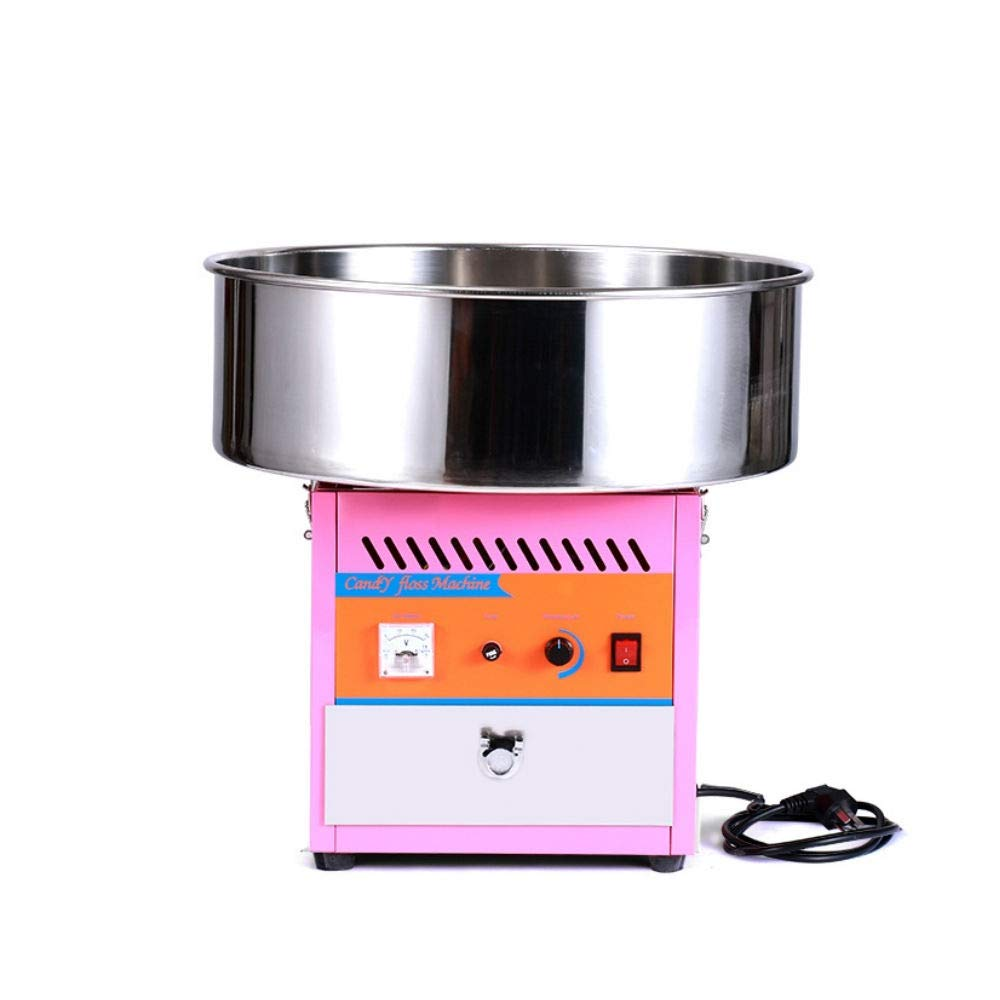 Homgrace Cotton Candy Machine Electric Commercial Grade Candy Floss Maker for Gathering Parties (pink 2)
