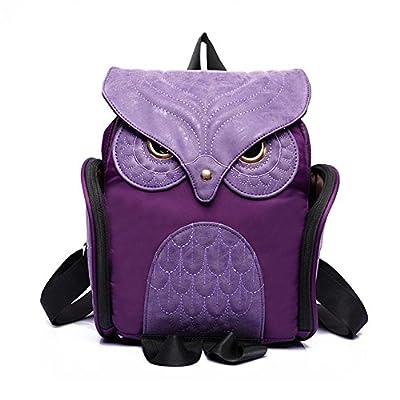 BOAOGOS Daypacks Occasionnels Femmes en cuir sac à dos Chouette Femme Mujer sac sacs d'école pour les adolescents