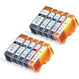 10 Pack Compatible Canon CLI-226 , PGI-225 2 Small Black, 2 Cyan, 2 Magenta, 2 Yellow, 2 Big Black for use with Canon PIXMA iP4820, PIXMA iP4920, PIXMA iX6520, PIXMA MG5120, PIXMA MG5220, PIXMA MG5320, PIXMA MG6120, PIXMA MG6220, PIXMA MG8120, PIXMA MG8120B, PIXMA MG8220, PIXMA MX712, PIXMA MX882, PIXMA MX892. Ink Cartridges for inkjet printers. CLI-526BK , CLI-526C , CLI-526M , CLI-526Y , PGI-525BK © Zulu Inks