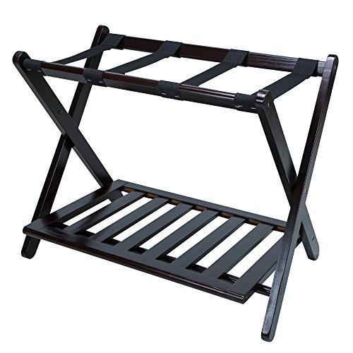 (Casual Home Luggage Rack with Shelf, Espresso)