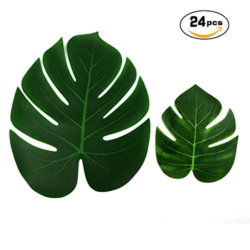 24 piece Tropical Palm leaves.