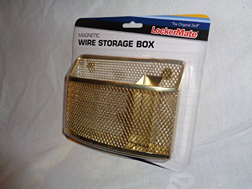 Magnetic Locker Box - Gold Mesh Wire Magnetic Storage Box by LockerMate