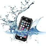 DAYJOY Fullbody IP68 Waterproof Dustproof Shockproof Water Resistant Ultra Light Protective Case Shell with phone Lanyard For Apple iPhone 6PLUS 6S PLUS6+ 5.5inch (BLACK)