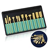 Professional Electric Nail Drill Bits Set 3/32'' Gold Carbide Nail Art Bit Tools