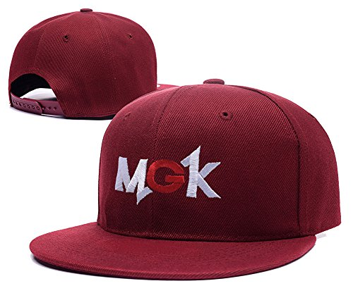 ZZZB MGK Machine Gun Kelly Logo Adjustable Snapback Embroidery Hats Caps - Red