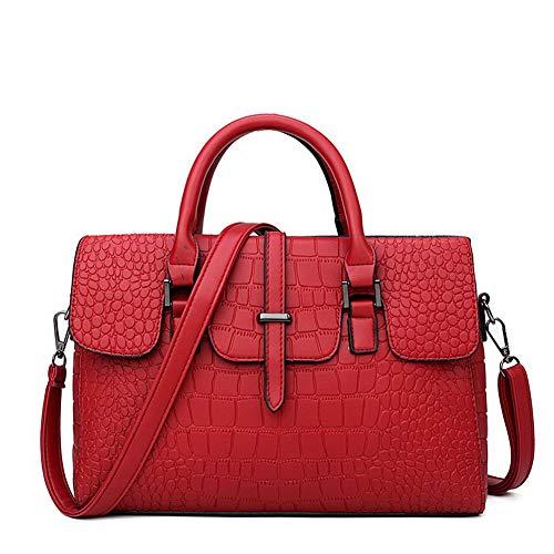 Rosa Tote Shopping tracolla a Odomolor Style tracolla Casuale Borse ROIBL181248 a Donna Rosso Borse CAF7wqT