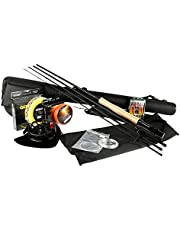 Goture Fly Fishing Rod et Reel Combos Kit 5/6 7/8 avec pêche Mouches Ligne Rod Case