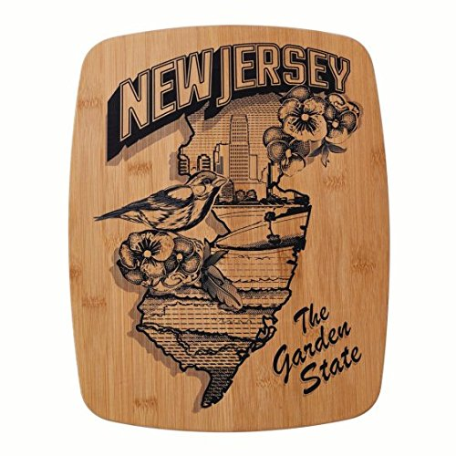 y 14 Inch Bamboo Cutting Board With New Jersey ()