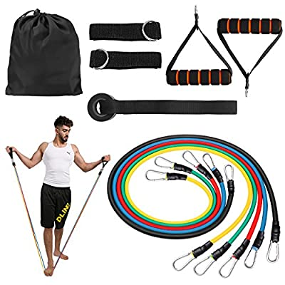 Shadow Fiend Resistance Bands Set - Include 5 Stackable Exercise Bands,Handles,Door Anchor and Ankle Straps -Workout Bands For Resistance Training, Physical Therapy, Local Muscle Training