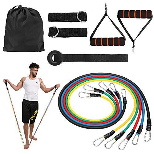 Shadow Fiend Resistance Bands Set - Include 5 Stackable Exercise Bands,Handles,Door Anchor and Ankle Straps -Workout Bands for Resistance Training, Physical Therapy, Local Muscle Training by Shadow Fiend