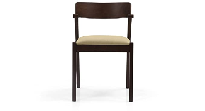 Urban Ladder Thomson Solid Wood Dining Chairs, Set of 2 (Latte)