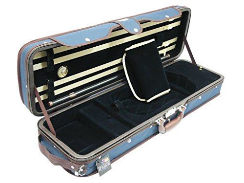 D'Luca CP05M-BLBL Heavy Duty Oblong Violin Case 4/4, Blue/Blue
