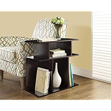 Monarch Specialties Cappuccino Accent Side Table, 24-Inch