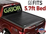 Gator 2009-2018 Dodge Ram 5.7 FT. Bed No RamBox Recoil Retractable Tonneau Truck Bed Cover (G30231) (Matte) Made in The USA