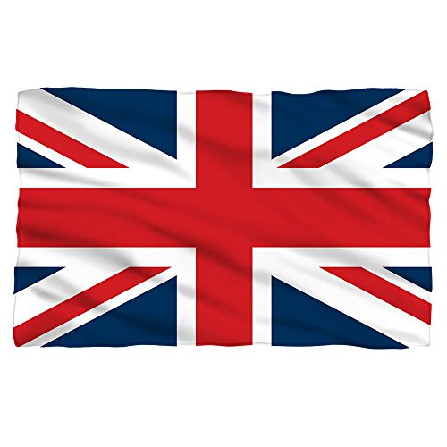 Great Britain Union Jack Flag -- Fleece Throw Blanket