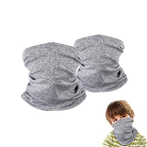 2 Pack Kids Neck Gaiter, Summer Face Cover for Kids, Neck Gaiter Bandana for Boys and Girls Hiking Cycling