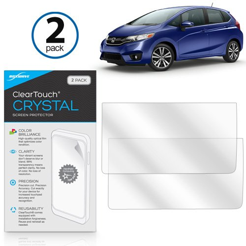 BoxWave 2015 Honda Fit EX Front Display Panel Screen Protector, [ClearTouch Crystal (2-Pack)] HD Film Skin - Shields From Scratches for Honda 2015 Honda Fit EX Front Display Panel by BoxWave
