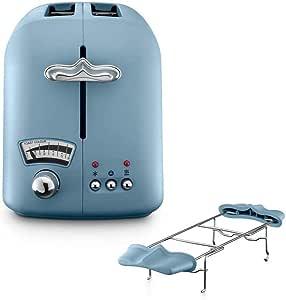 DeLonghi CTO21.AZ Argento Flora 2-Slice Toaster, Agave Blue