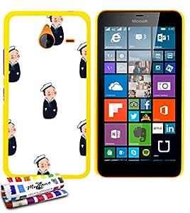 MUZZANO-Carcasa ultrafina para Nokia LUMIA 640, XL de calidad superior, diseño ultrafino petits_marins protección contra los impactos, ELEGANTE, resistente, 1 lápiz óptico y 1 gamuza de limpieza MUZZANO