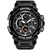SMAEL Men's Sport Watch Dual Quartz Movement with Analog-Digital Display and EL Backlight Watch for Men