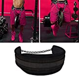 "UAAO Dip Belt By 7"" Weight Lifting Pull Up Belt With 32'' Heavy Duty Steel Chain & Bonus Ebook - For Powerlifting, Xfit, Bodybuilding, Strength & Training - Lifetime Replacement Warranty"