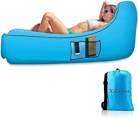 Sofa Hinchable con Almohada Integrada y Bolsa,TumbonaInflable Cama ...