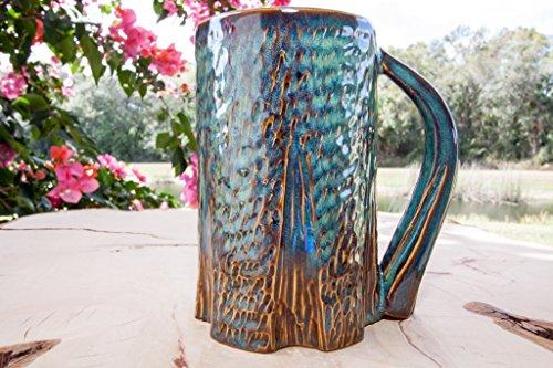 Tree Mug, Handmade Coffee Pottery Mug (Scene Large Mug)